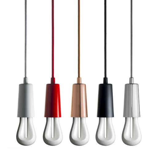 002_Plumen-002-in-Drop-Cap-Pendant-Set-Full-Range-five-colours-white-background  Hulger