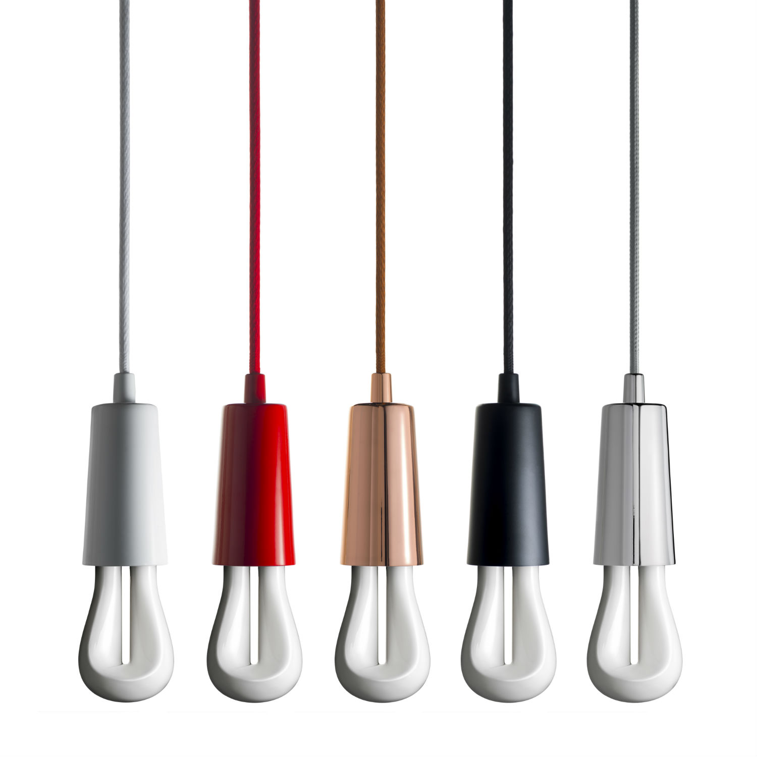 002_Plumen-002-in-Drop-Cap-Pendant-Set-Full-Range-five-colours-white-background Drop Cap Hulger