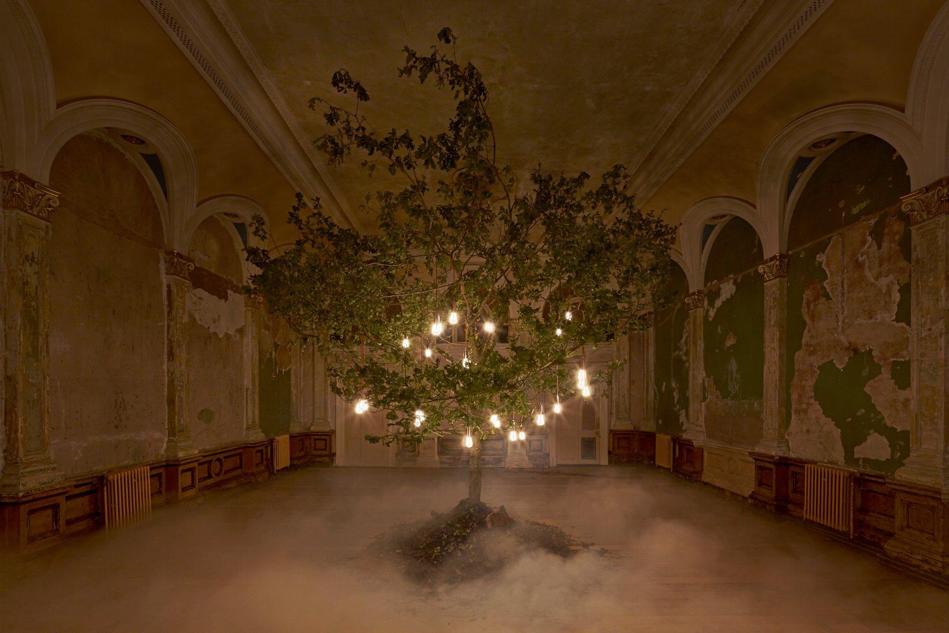 Plumen-Glowing-Oak-installation-at-Designersblock-2014-2 Glowing Oak Hulger